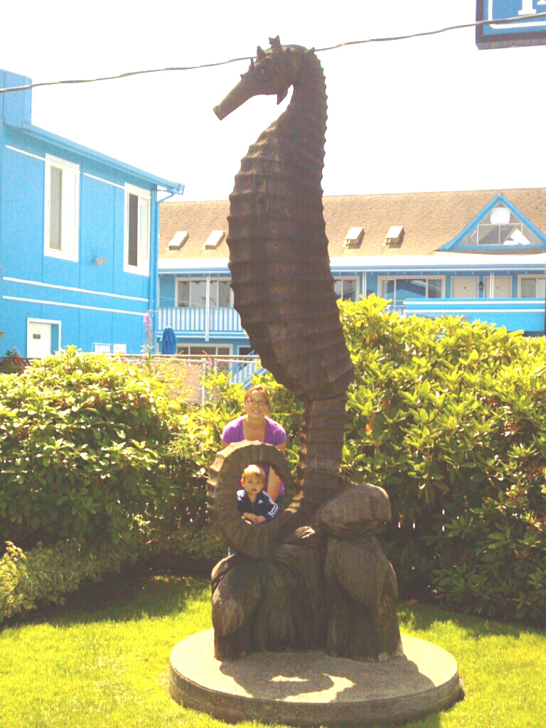 Seahorse sculpture in the park